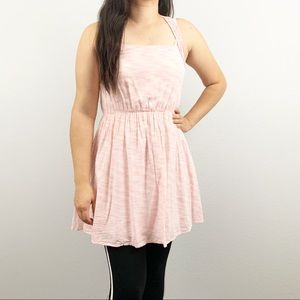 Doe & Rae Pink Spacedye Cotton Dress